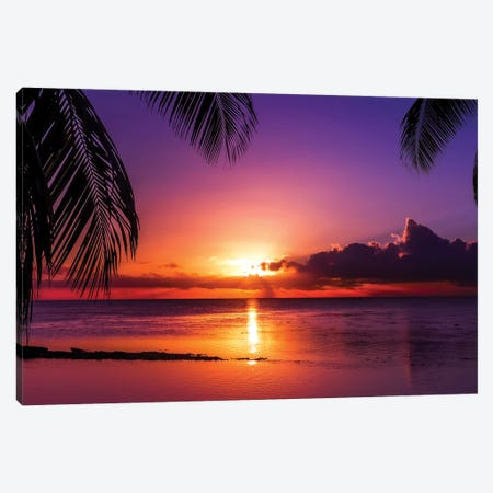 Island Sunset Canvas Print #JRP39} by Jonathan Ross Photography Canvas Art Print