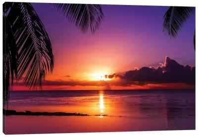 Island Sunset Canvas Art Print