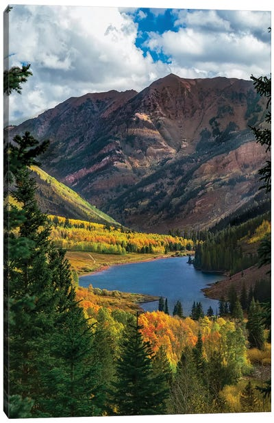 Majestic Cloudy Peaks Canvas Art Print