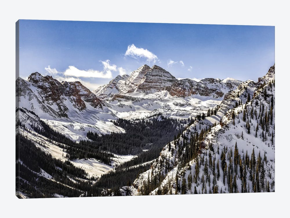 Maroon Bells Panorama by Jonathan Ross Photography 1-piece Canvas Wall Art