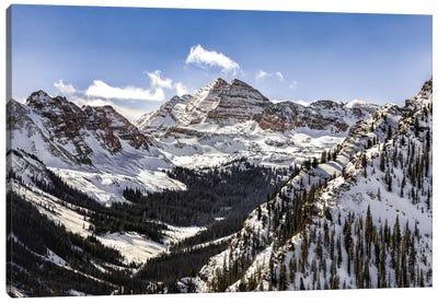 Maroon Bells Panorama Canvas Art Print