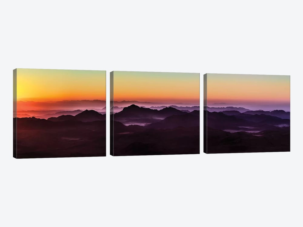 Misty Sinai by Jonathan Ross Photography 3-piece Canvas Art Print