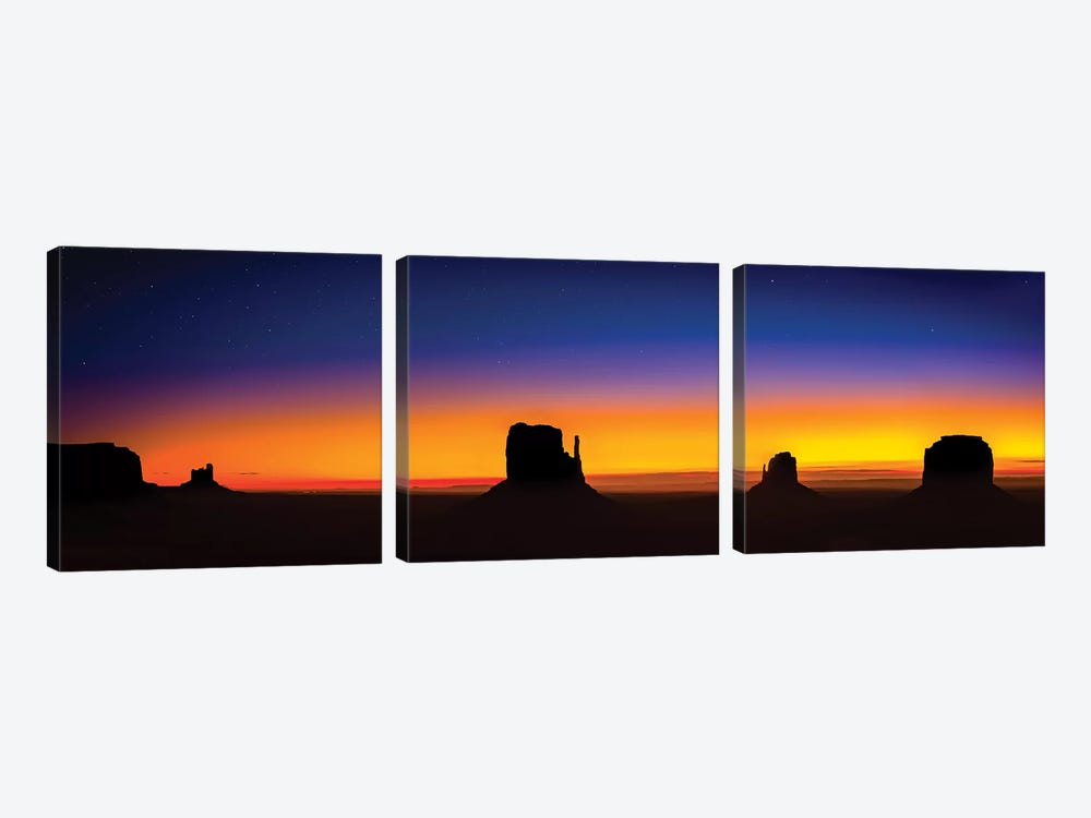 Monument Valley Glow 3-piece Art Print