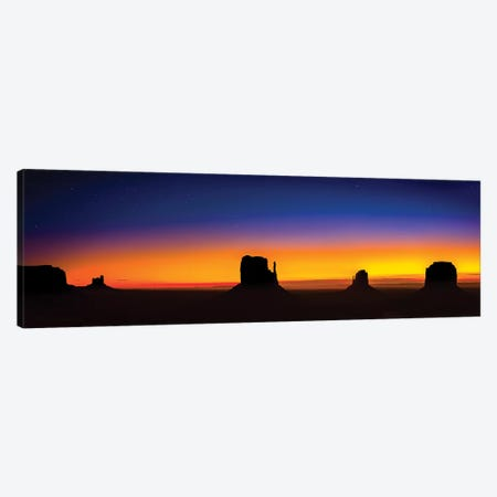 Monument Valley Glow 3-Piece Canvas #JRP54} by Jonathan Ross Photography Canvas Artwork