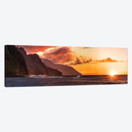 Napoli Sunset Canvas Print #JRP58} by Jonathan Ross Photography Art Print
