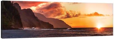 Napoli Sunset Canvas Art Print