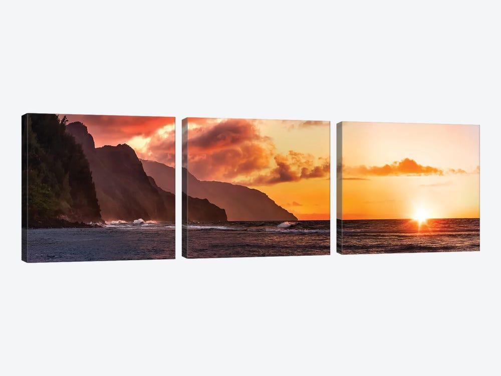 Napoli Sunset by Jonathan Ross Photography 3-piece Art Print