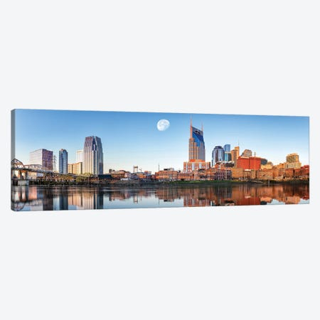 Nashville Daybreak Panorama Canvas Print #JRP59} by Jonathan Ross Photography Canvas Art Print