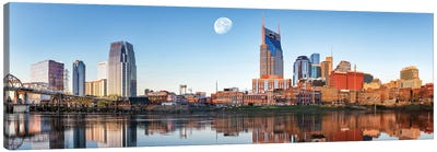Nashville Daybreak Panorama Canvas Art Print