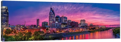 Nashville Glow Canvas Art Print