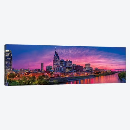 Nashville Glow Canvas Print #JRP60} by Jonathan Ross Photography Canvas Wall Art