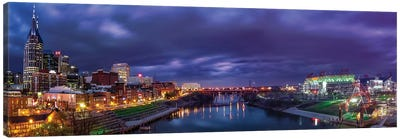 Nashville Lights On The Cumberland River Canvas Art Print