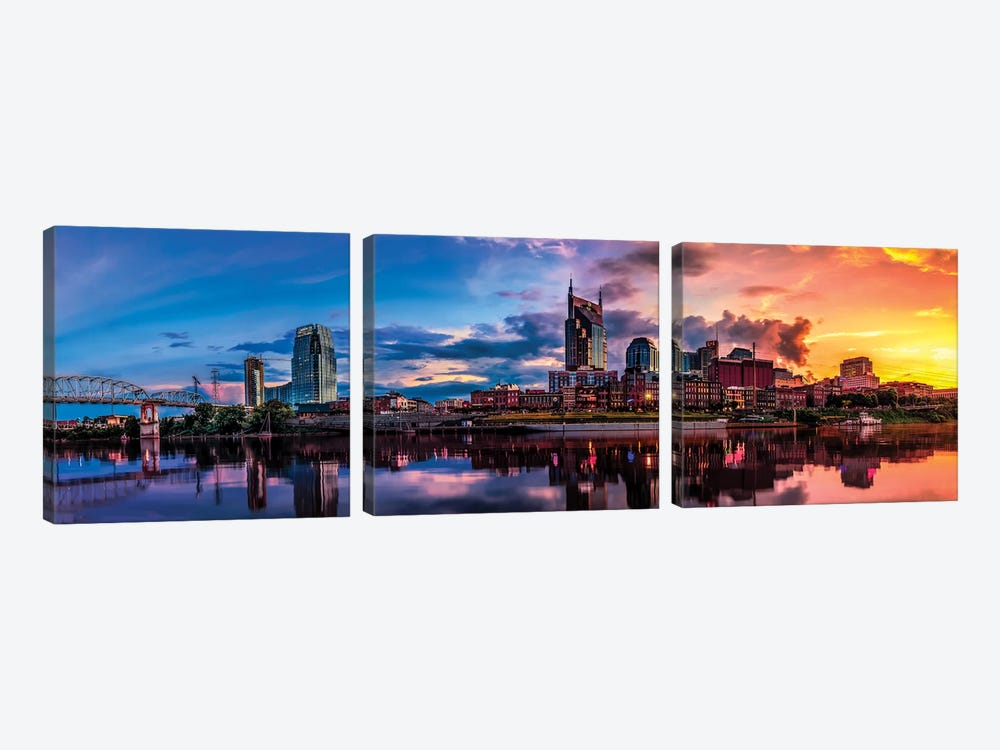 Nashville Transition by Jonathan Ross Photography 3-piece Canvas Artwork