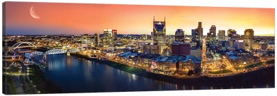Nashville Twilight Panorama Canvas Art Print