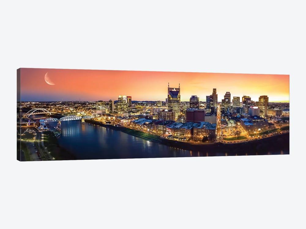 Nashville Twilight Panorama by Jonathan Ross Photography 1-piece Art Print