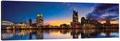 Night Is Falling On Nashville Canvas Art Print