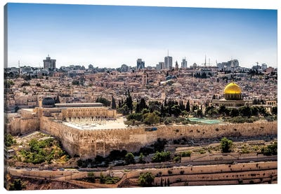 Overlooking Jerusalem Canvas Art Print