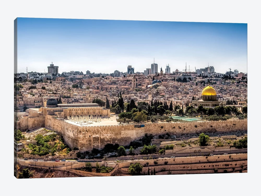 Overlooking Jerusalem by Jonathan Ross Photography 1-piece Art Print