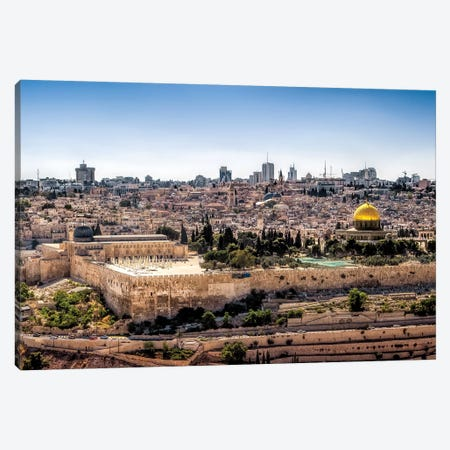 Overlooking Jerusalem Canvas Print #JRP65} by Jonathan Ross Photography Art Print