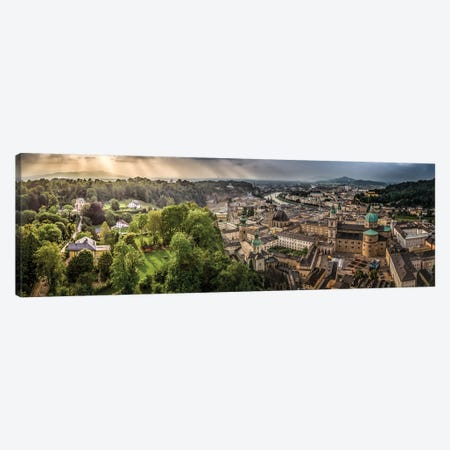 Overlooking Salzburg Canvas Print #JRP66} by Jonathan Ross Photography Canvas Print