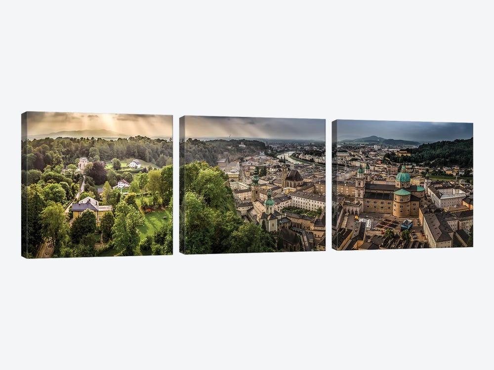 Overlooking Salzburg by Jonathan Ross Photography 3-piece Canvas Artwork