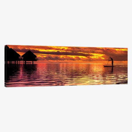 Paddling Into The Sunset Canvas Print #JRP67} by Jonathan Ross Photography Canvas Print
