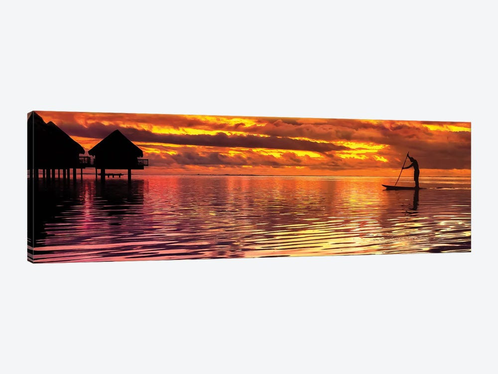 Paddling Into The Sunset by Jonathan Ross Photography 1-piece Art Print