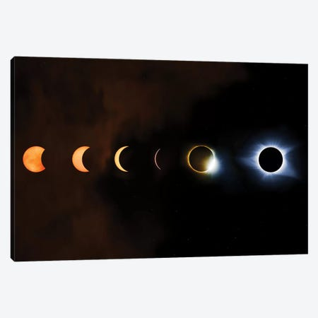 Phases Of A Total Eclipse Canvas Print #JRP69} by Jonathan Ross Photography Canvas Artwork