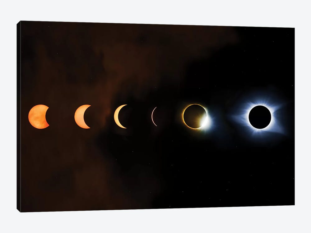 Phases Of A Total Eclipse by Jonathan Ross Photography 1-piece Art Print