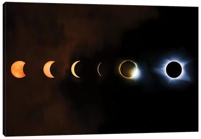 Phases Of A Total Eclipse Canvas Art Print