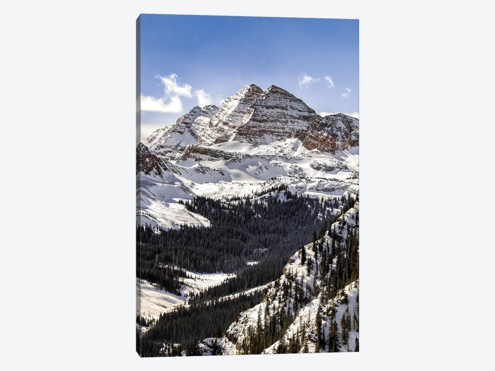 Blue Sky Maroon Bells by Jonathan Ross Photography 1-piece Canvas Wall Art