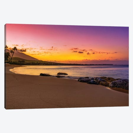 Rocky Beach Sunset Canvas Print #JRP75} by Jonathan Ross Photography Canvas Wall Art