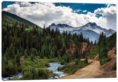 Rocky Mountain Roadway Canvas Art Print