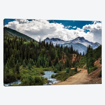 Rocky Mountain Roadway 3-Piece Canvas #JRP77} by Jonathan Ross Photography Canvas Art