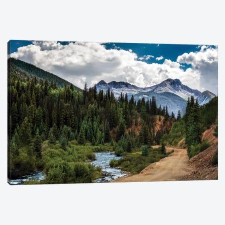 Rocky Mountain Roadway Canvas Print #JRP77} by Jonathan Ross Photography Canvas Art