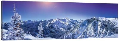 Rocky Mountain Winter Wonderland Canvas Art Print