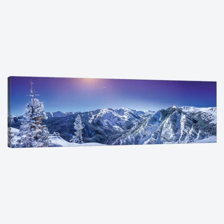 Rocky Mountain Winter Wonderland 3-Piece Canvas #JRP78} by Jonathan Ross Photography Canvas Print