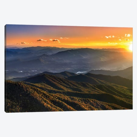 Smoky Mountain Sunset Canvas Print #JRP80} by Jonathan Ross Photography Canvas Wall Art