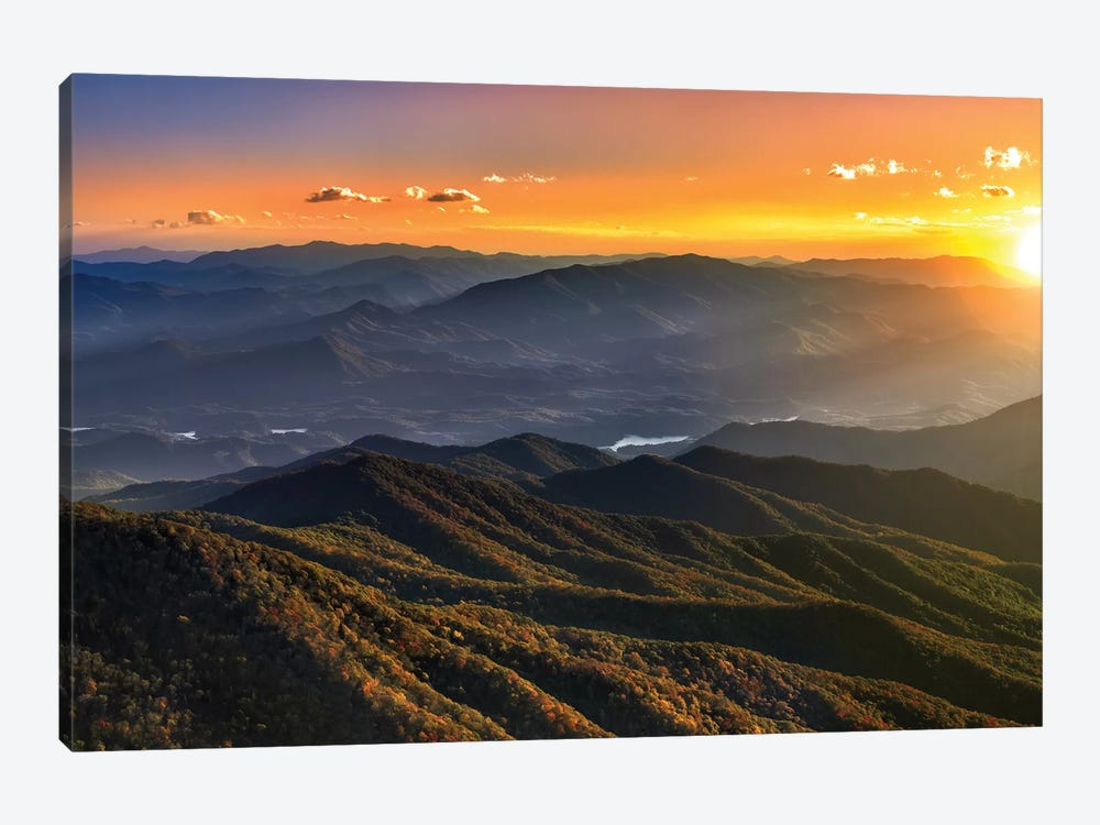 Smoky Mountain Sunset by Jonathan Ross Photography 1-piece Canvas Artwork