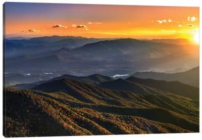 Smoky Mountain Sunset Canvas Art Print