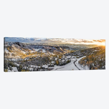 Snowy Glimpse 3-Piece Canvas #JRP81} by Jonathan Ross Photography Canvas Art