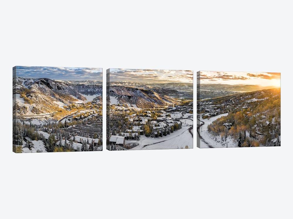Snowy Glimpse by Jonathan Ross Photography 3-piece Art Print