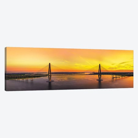 Spanning The Harbor 3-Piece Canvas #JRP85} by Jonathan Ross Photography Canvas Print