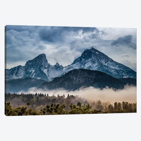 Stormy Alps Canvas Print #JRP87} by Jonathan Ross Photography Art Print