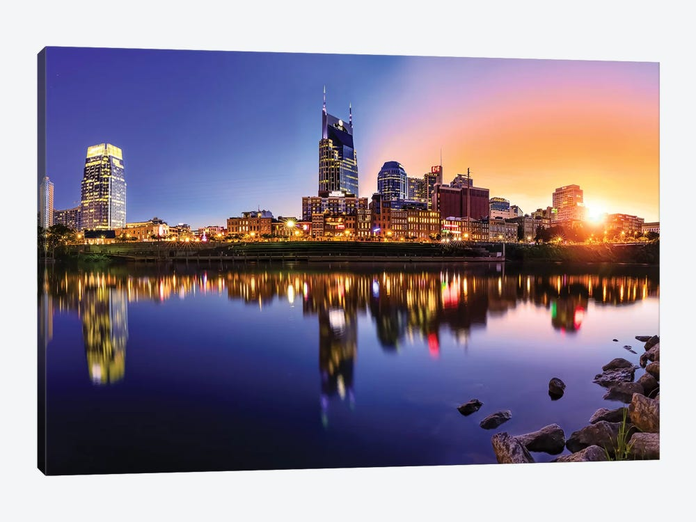 Sun Going Down On Nashville by Jonathan Ross Photography 1-piece Canvas Art