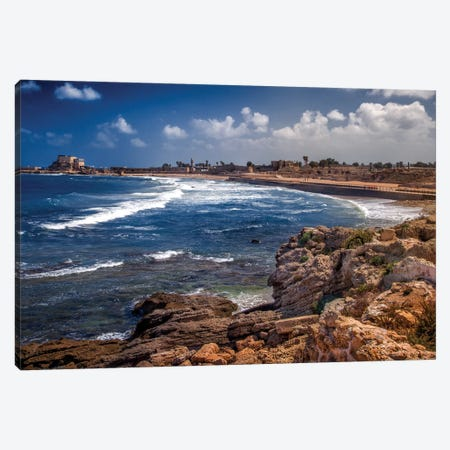 Caesarean Shoreline Canvas Print #JRP8} by Jonathan Ross Photography Canvas Artwork