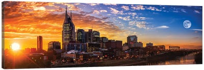 Sundown In Music City Canvas Art Print