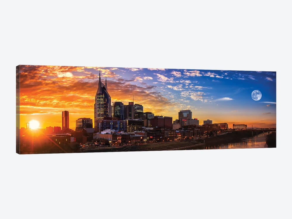 Sundown In Music City by Jonathan Ross Photography 1-piece Canvas Art Print