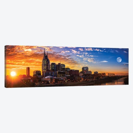 Sundown In Music City Canvas Print #JRP90} by Jonathan Ross Photography Canvas Art Print