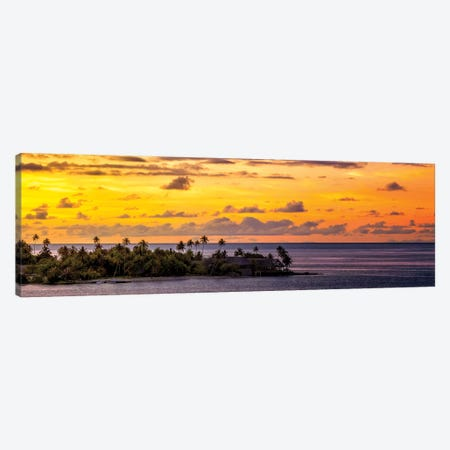 Sundown In The South Pacific Canvas Print #JRP91} by Jonathan Ross Photography Art Print